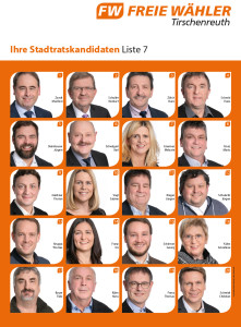 Plakat Stadtratskandidaten 2020